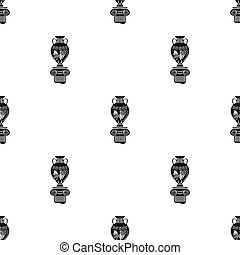 Amphora icon in black style isolated on white background....