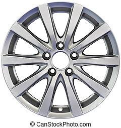 Aluminum Wheel Cutout - Racing performance Aluminum Wheel