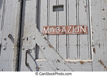 old warehouse door