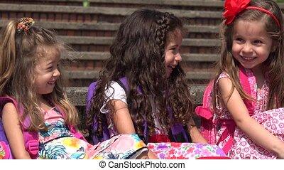 Elementary School Kids Little Girls