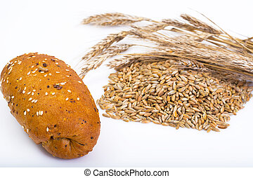 Wheat rye bread with flax seeds, chia, sesame