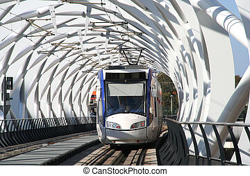 Elevated Railway - Elevated modern architecture railway...