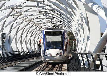 Elevated Railway - Elevated modern architecture railway...