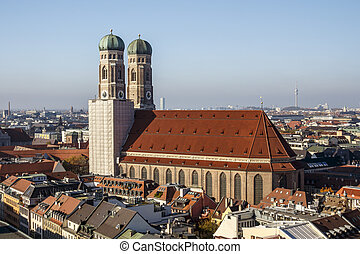 Frauenkirche in Munich, Germany, 2015 - Towers of the...