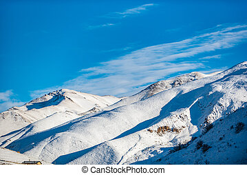 Magnificent nature in Iranian mountain district - Cold snow...