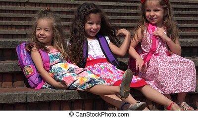 School Children Adorable Girls