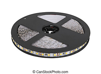 Diode strip. Led lights tape reel