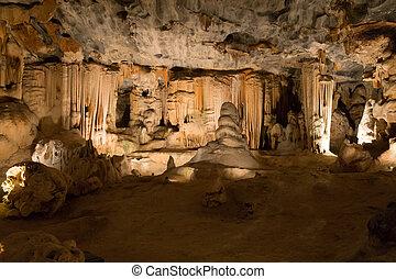 Cango Caves in Oudtshoorn South Africa. African landmark -...