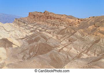 View from Zabriskie Point, California, USA. Desert panorama....