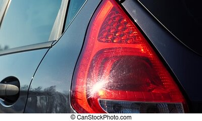 Red emergency light flashing - Car red emergency light...