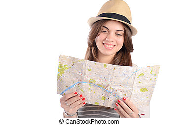 Woman on a trip.
