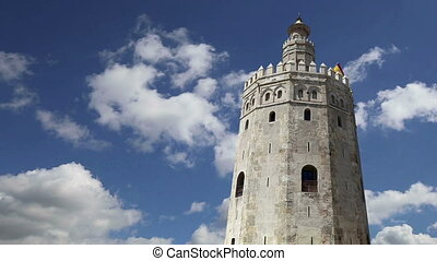 Torre del Oro or Golden Tower (13th century), a medieval...
