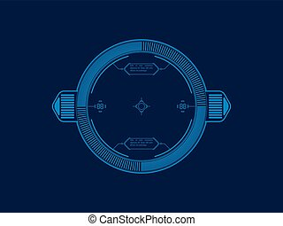 Space shooter - Vector HUD for space shooter game