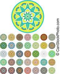 Abstract mandala vector pack