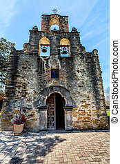 The Historic Spanish Mission Espada, Texas - The Rustic and...