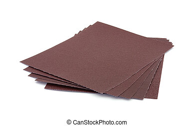 Five sheets of assorted sandpaper - Five full sheets of...