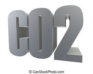 co2 - 3d rendered illustration of a co2 sign