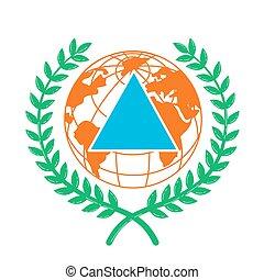 Icon World Civil Defence Day.
