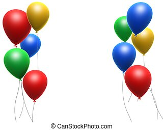 celebration balloons - 3d rendered illustration of some...