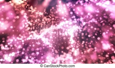 Sparkling light sparks bubbles defocused DOF bokeh abstract...