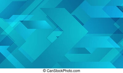 Abstract blue corporate geometric video animation