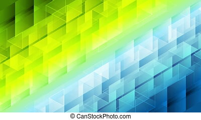 Colorful geometric polygonal pixelated video animation -...