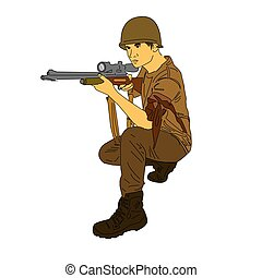 sniper - A sniper can stay awake for many hours and remain...