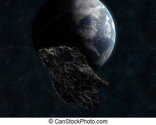 Asteroid infront of earth
