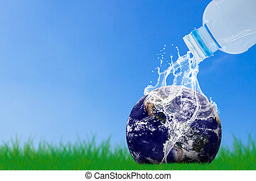 Save Water Concept - Save water concept, natural crisis,...
