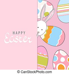Adorable easter postrcard - Adorable easter postcard with...