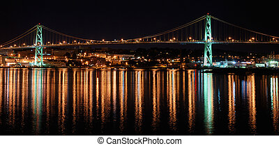 MacDonald Bridge - The MacDonald Bridge spanning Halifax...