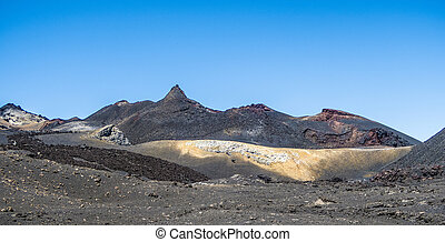 volcanic landscape at Sierra Negra at the Galapagos islands...
