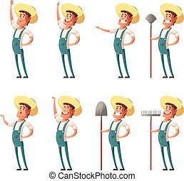 Set of farmer icons - Vector image of the Set of farmer...