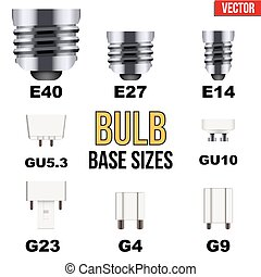 Technical draw of bulb set - Technical infographic of...