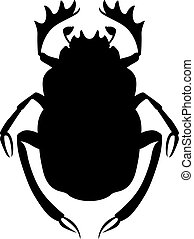 Scarab beetle, shade picture