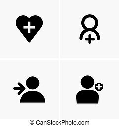Followers symbols - Set of followers symbols