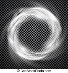 Vector smoke ring light effect with trasparency - Vector...