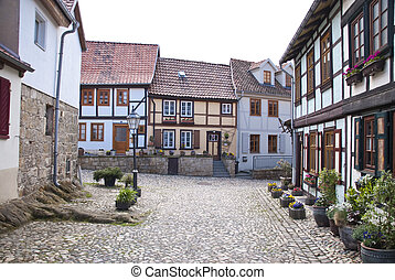 Quedlinburg - In the historic old town of Quedlinburg,...
