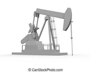 oil pump - 3d rendered illustration of working oil pump