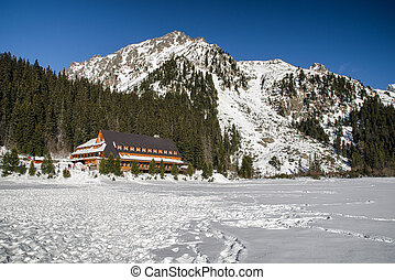 Mountain hotel Popradske pleso in High Tatras mountains,...