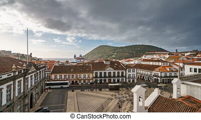 Angra do Heroismo time lapse in Terceira with Brazil...