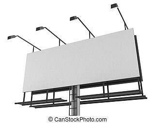 blank sign - 3d rendered illustration of an isolated blank...