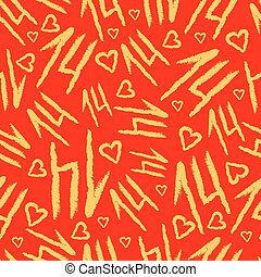 Vector Seamless Pattern with fourteen shapes. Napkin...