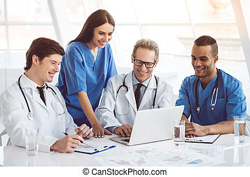 Medical doctors at the conference - Successful medical...