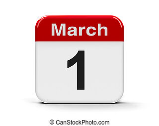 1st March - Calendar web button - The First of March - World...