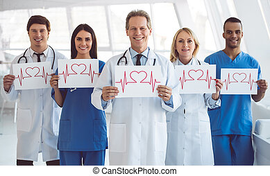 Medical doctors at the conference - Successful team of...