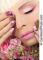 Summer nail design.