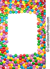 Colorful Chocolate Candy Frame - Colorful chocolate candy...
