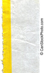 Piece of paper with yellow line