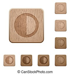 Contrast control wooden buttons - Contrast control on...